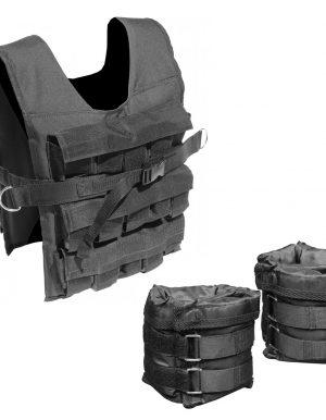 cPro9 Pakketilbud Justerbar Vægtvest 30kg + Justerbare Ankelvægte 0 - 3kg